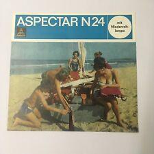Publicité prospectus pour rétroprojecteur aspectar n24-VEB Pentacon Dresde 1966