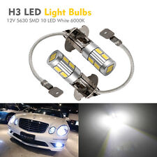 2X H3 12V XENON Lampe Phare Voiture Lumière 5630 SMD 10 LED White 6000K Ampoule