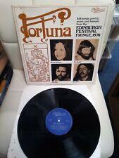 FORTUNA - EDINBURGH FESTIVAL FRINGE 1976 LP A1/B1 Traditional British Folk vinyl