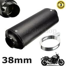 38MM Motorcycle Exhaust Muffler Tip for 125 150 160cc Dirt Pit Bike ATV Black