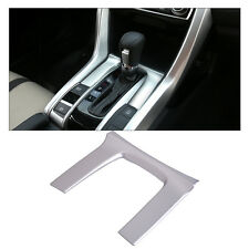 Silver Chrome Plated Shift Gear Panel Cover Trim Fit For Honda Civic 2016 2017