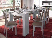 Lucia Extending Console to Dining Table 90cm x 51cm-237cm White 1-10 Seater