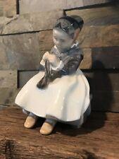"Royal Copenhagen ""Amager Girl"" Glazed Porcelain Figurine #1314"