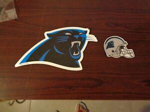 2 Vintage Carolina Panthers  Vinyl Auto Fridge Magnets NFL Football Team