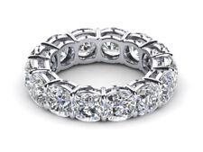 2ct Round Cut BIG Diamond Eternity Anniversary Wedding Band 14k Solid White Gold
