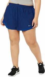 "Nike Women's Tempo 3"" Dri-Fit Running Shorts Blue Void Indigo - Sz 3X - NWT"