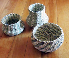 Collection of 3 Papago (Tohono O'Odham) Indian  baskets