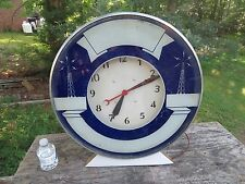 Antique Vintage RARE RKO Radio Tower ? 1930's Electric Lighted Advertising CLOCK