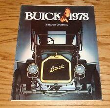 Original 1978 Buick Full Line Sales Brochure 78 Electra Skylark LeSabre