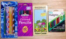 Lot 4 Sets Vintage Colored Pencils Pedigree Faber Castell NBA LA Clippers +