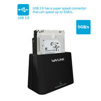 External USB3.0 to SATA 2.5''&3.5''HDD/SSD Single Bay Hard Drive Docking Station
