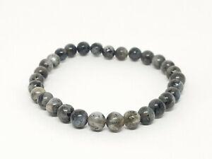 Black Tourmaline Round Bead Bracelet 6mm Crystal Powerful Grounding Natural UK