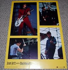 JOAN JETT & The Blackhearts Album Concert Collage Poster 1983 Bi-Rite 15-253