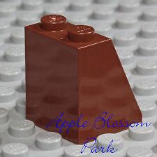 LEGO Female Girl Plain Reddish BROWN MINIFIG SKIRT - Princess Dress Bottom Slope