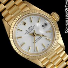 ROLEX Ladies President 18K Gold Datejust 69178 - $23,850, Minty with Warranty