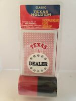Classic Texas Hold'em Poker Deck With 40 Chips And Dealer Chip. New in Package