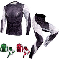 Men's Compression Tights Athletic Base Layers Sports Long Pants Quick-dry Shirts
