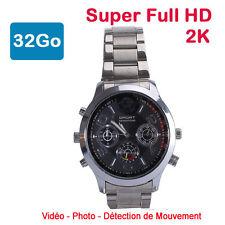 montre mini caméra espion 32 Go 2K Super Full HD 2304 x 1296p Détection de Mvt