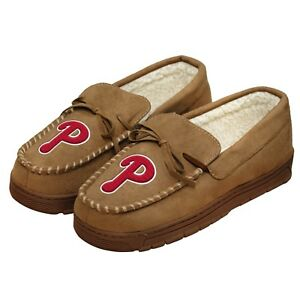 Philadelphia Phillies Forever Collectibles MLB Men's Moccasin Slippers FREE SHIP