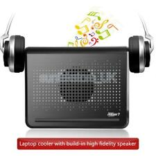 """120mm Fans USB Cooling Stand Pad Cooler with Speaker for 12""""-16"""" Laptop PC"""
