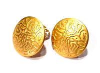 Bijou Givenchy alliage doré boucles d'oreilles boutons clips earrings