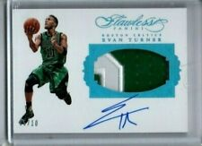 2015-16 Flawless Evan Turner Sapphire Auto Jersey Patch Autograph #'ed /10