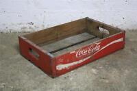 VINTAGE WOODEN COCA COLA COKE SODA CRATE 60s RETRO TRUG BOX