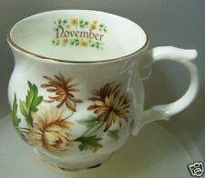 "POLLYANNA  ""NOVEMBER FLOWER OF THE MONTH MUG"" FINE BONE CHINA MBKN MINT & BOXED"