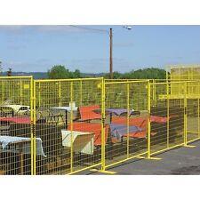 Perimeter Patrol Welded Wire Yellow Powder Coat Fence 76wx6h 12 Panel Kit