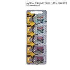 Maxell 395 SR927SW SR927 Silver Oxide Watch Batteries (30Pcs)