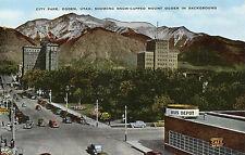 Ogden Utah New Bus Station & Cafe Postcard 1940s