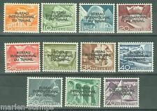 SWITZERLAND  INTERNATIONAL  BUREAU OF WORK  SC#3O83/93  MI#83/93 MINT NH FULL OG
