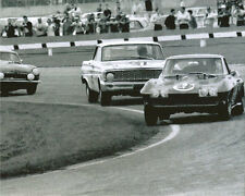 Vintage 8 X 10 1964 Daytona Nickey Corvette & Ford Falcon Auto Racing Photo