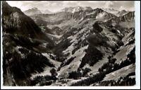 BAAD Kleinwalsertal Alpen Berge Panorama 1956 gelaufen