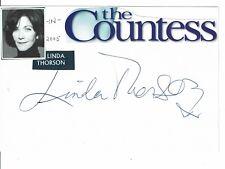 Linda Thorson Actress The Avengers Hand Signed Card The Countess  6 x 4 + COA