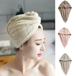 Cotton Dry Hair Cap Quick Dry Shower Towel Wrap Hat Microfiber Towels DIY