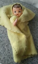Vintage Plastic Face Yarn Body Baby Doll