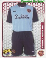 202 AWAY KIT  HEART OF MIDTOTHIAN STICKER SCOTTISH PREMIER LEAGUE 2010 PANINI
