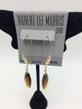 $30 ROBERT LEE MORRIS  TAUPE STONE DROP EARRINGS ML3