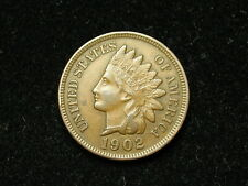 SUMMER SALE!! XF 1902 INDIAN HEAD CENT PENNY w/ DIAMONDS & FULL LIBERTY #86s