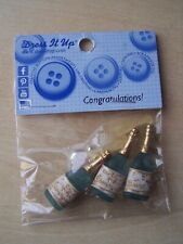 DRESS IT UP BUTTONS - CRAFTS/CARDMAKING - CONGRATULATIONS - 8 PIECES