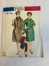 Vogue Paris Original 1046 Nina Ricci vintage sewing pattern dress pattern size14
