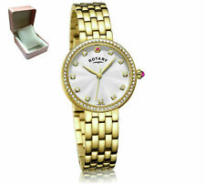 Rotary LB03000/06 Ladies Semi Precious Stone Set Gold Plated Bracelet Watch*