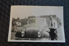 Vintage Car Photo Man Polishing 1934 Chrysler Airflow 860
