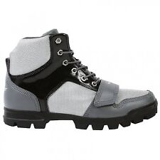 Creative Recreation Dio Mid Mens Boots Leather Casual UK9.5 Black/Grey/ White