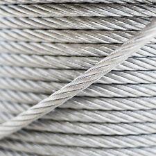 Stahlseil verzinkt Drahtseil 5m bis 200m Seil Seile Stahlseile 1mm - 10mm TOP