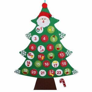 Christmas Tree Advent Calendar New Year Felt Decorations for Home