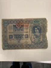 Austria Hungary 1902 1000 Ezer Korona Tausend Kronen Stamp Transylvania