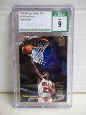 1993-94 Stadium Club Michael Jordan CSG Mint 9 Card #1 Chicago Bulls NBA HOF