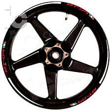 Kit Adesivi Ruote YAMAHA MT 09 Naked Racing Urban Stickers Wheels Flag Italy